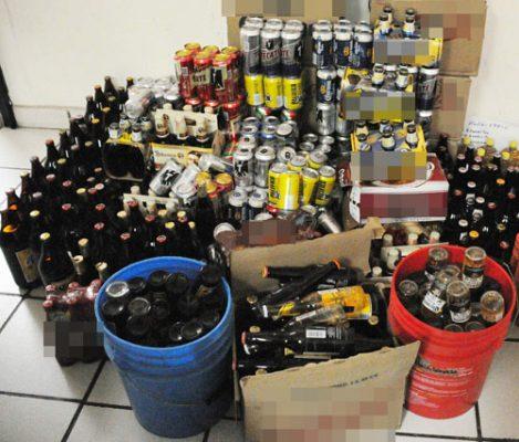 En seis meses se han destruido alrededor de 800 bebidas alcohólicas decomisadas
