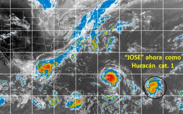 Tormenta tropical José se transforma en huracán categoría 1