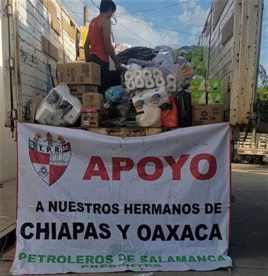Entregan víveres en Juchitán Oaxaca