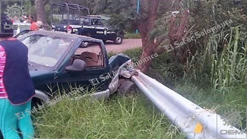 Se registra aparatoso accidente