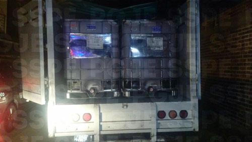 Recuperan 6600 litros de combustible