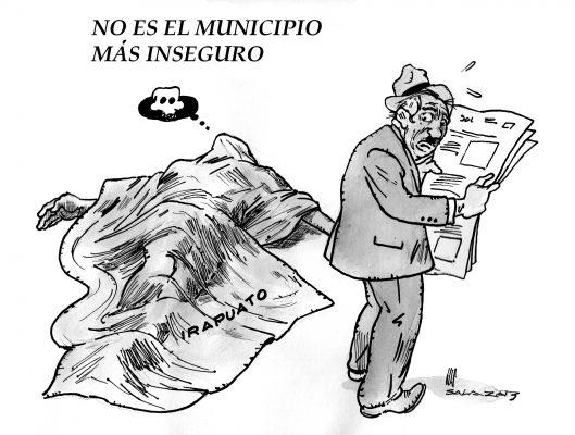 Hoy en el cartón de Salazar / NO ES EL MUNICIPIO MÁS INSEGURO