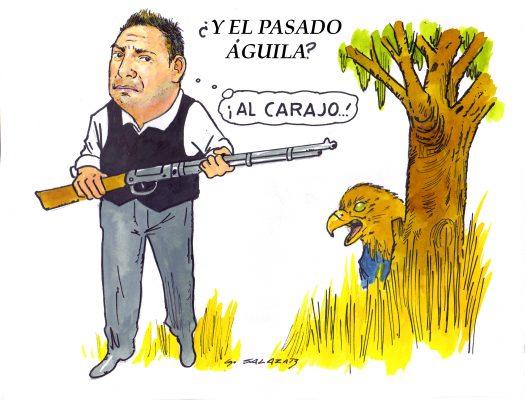 Hoy en el cartón de Salazar / ¿Y EL PASADO ÁGUILA?