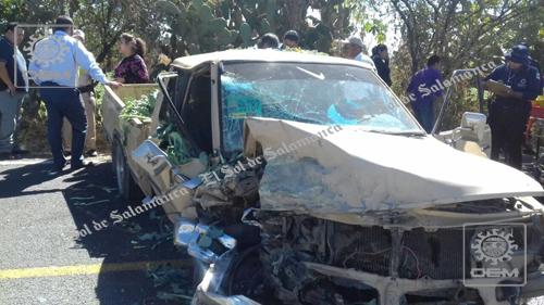 Sólo daños materiales en choque vehicular