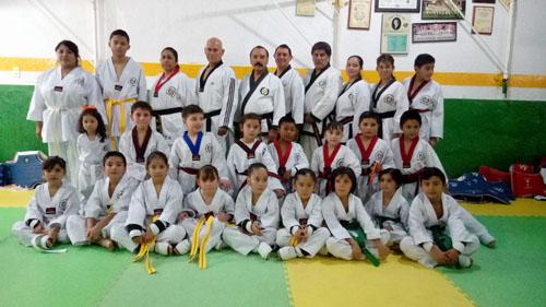 Taekwondoís cambian de grado menor en Moo Du Kwan Salamanca