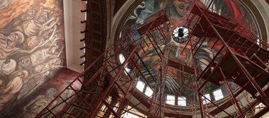 Restauran murales de Orozco en el paraninfo de la UdeG