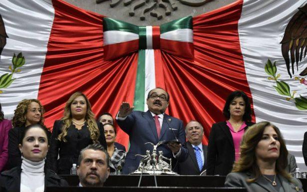 Ramírez Marín rinde protesta como nuevo presidente de la Mesa Directiva