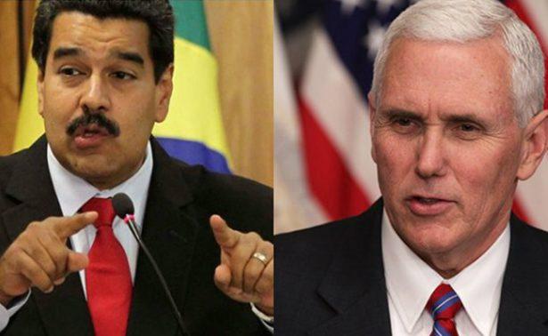Maduro descalifica comentarios de Mike Pence sobre Venezuela
