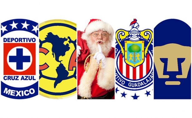 ¿Qué le pedirán a Santa Claus los equipos de la Liga MX?