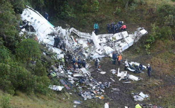 Confirman que falta de combustible causó avionazo del Chapecoense