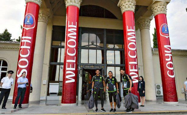 El Tricolor llega a Sochi para enfrentar este miércoles a Nueva Zelanda
