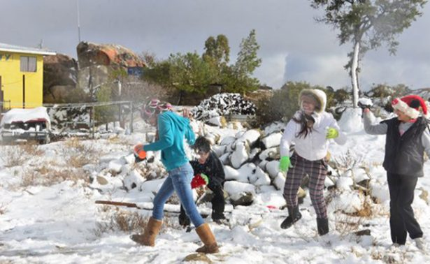 Mexicali se viste de blanco con su primera nevada