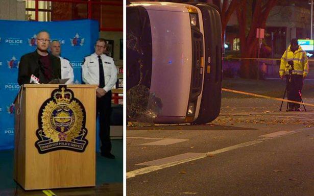 Hombre apuñala a policía y atropella a cuatro afuera de estadio en Canadá; se investiga como terrorismo