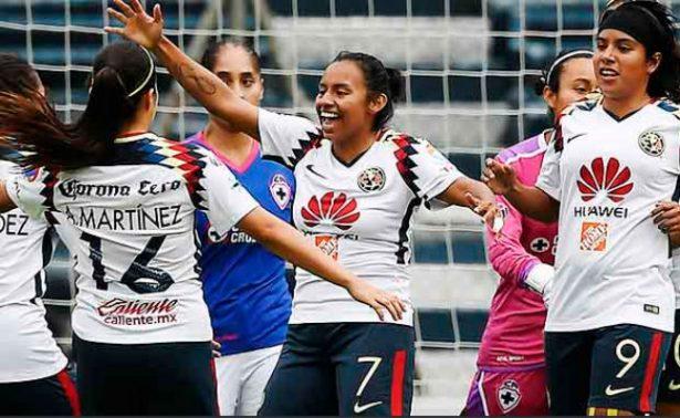 América golea a Cruz Azul en la liga femenil