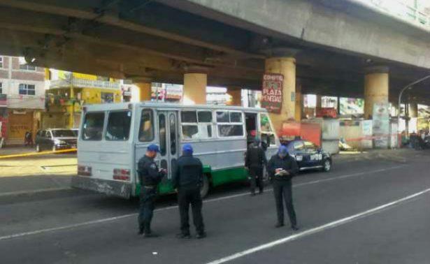 Muere pasajero tras el atraco a un microbús en calles de la CDMX