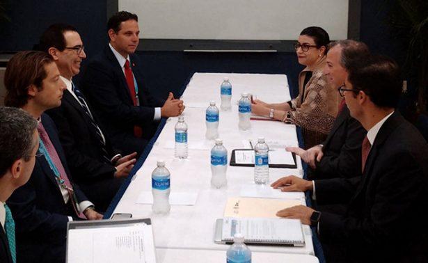 Meade revisa mecanismos de cooperación bilateral con secretario del Tesoro de EU