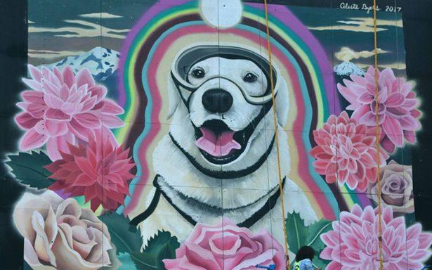 Furor por Frida continúa, le hacen mural para agradecer su labor