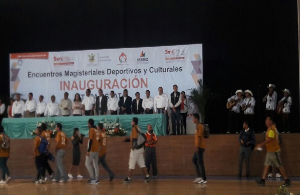 Se inauguró la final estatal de los Juegos Deportivos y Eventos Culturales de la Sección 24 del SNTE.