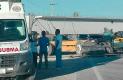 EL CHOFER de la camioneta fue rescatado gravemente herido y trasladado de urgencia a un hospital de San Juan del Río.