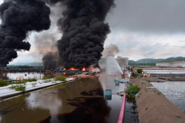 Pemex sofoca incendio en refinería de Salina Cruz