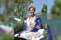 MARIA Fernanda I, reina de las fiestas sanjuanenses 2017 en su participación en la Cabalgata de la Amistad.