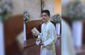 MARIO Jesús García Rojo celebró su Primera Comunión en la Capilla del Seminario Xaveriano.
