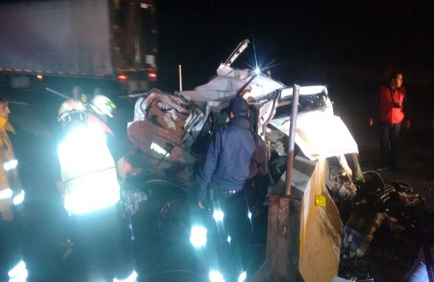Letal accidente en la autopista