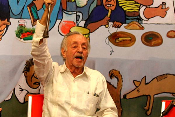 Destaca Peña, labor del caricaturista Eduardo del Río
