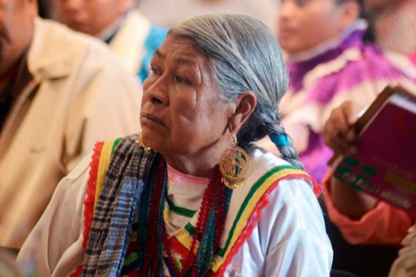 Niños y adultos indígenas conviven en jornada familiar