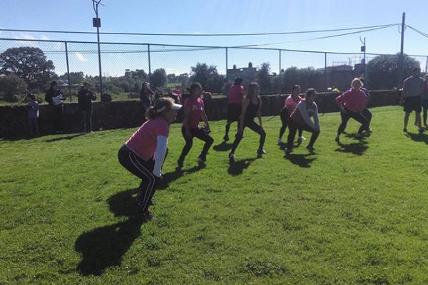 Promueven el deporte en Amealco