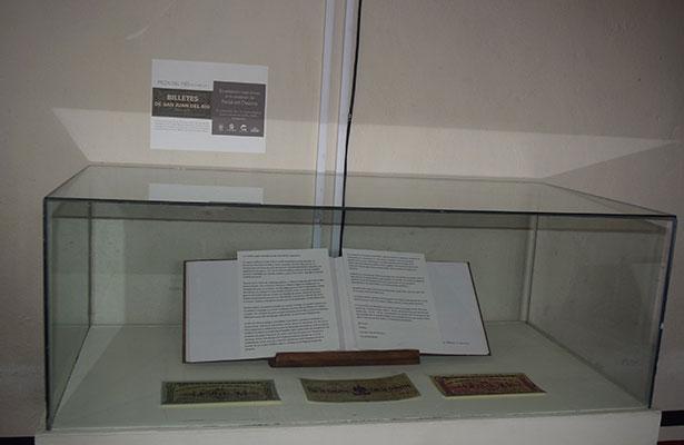"""CAPELO que resguarda los """"Billetes de San Juan del Río"""", emitidos por la autoridad municipal y estatal, en tiempos de la Revolución mexicana."""