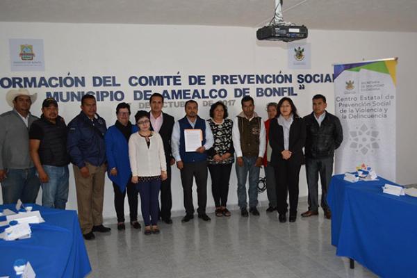 Integran Comité de Prevención en Amealco