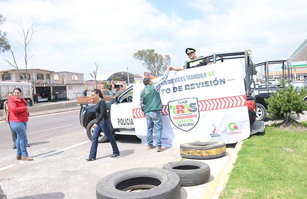 Presencia policial en la Palmillas – Toluca