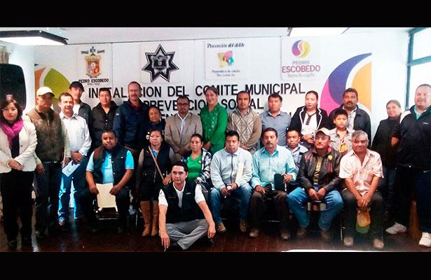 Crean Comité de Prevención en Pedro Escobedo
