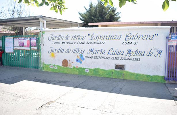 Jardín de niños suspende clases por fuga de gas