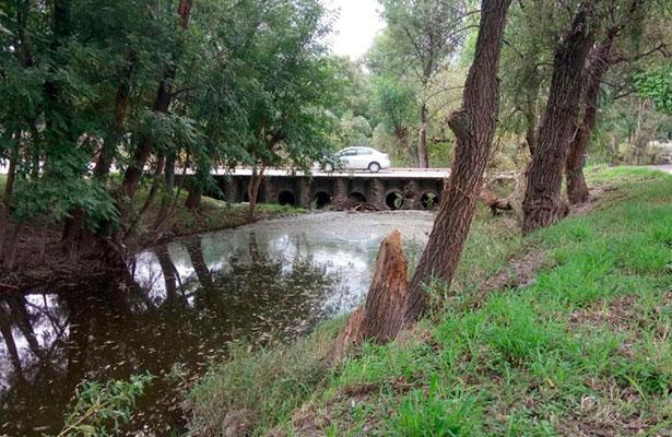 Preocupa el agua estancada y la presencia de moquitos en el río.