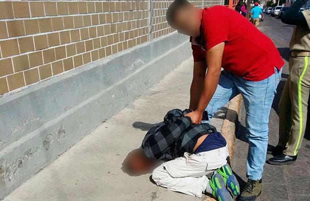 Ladrón es detenido por un ciudadano