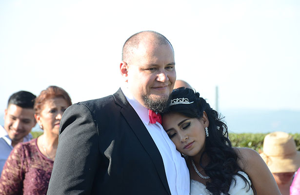 Claudia y Samuel se unieron en matrimonio