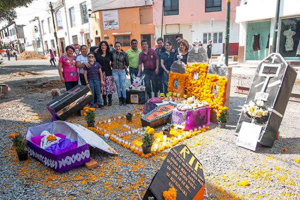 Locatarios recordaron a comerciantes muertos