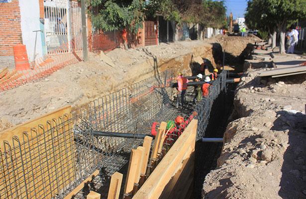 Al 75% obras de infraestructura pluvial