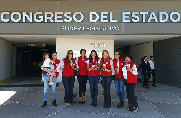 Damas Voluntarias acudieron al Congreso del estado