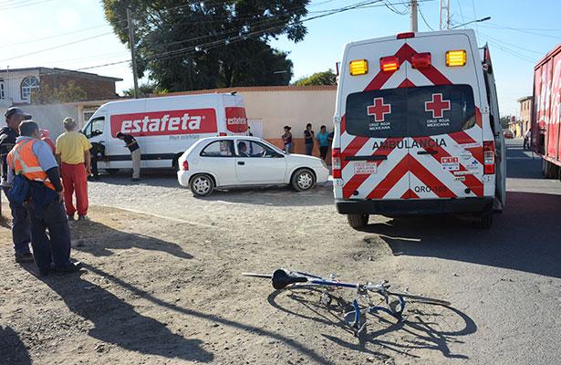Ciclista arrollado en Visthá
