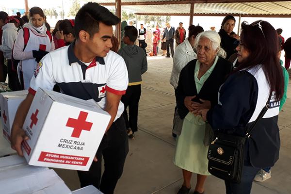 Cruz Roja lleva ayuda a San Sebastián