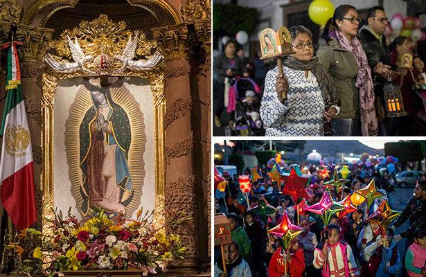 Fervor guadalupano; LXIX peregrinación de Los Farolitos