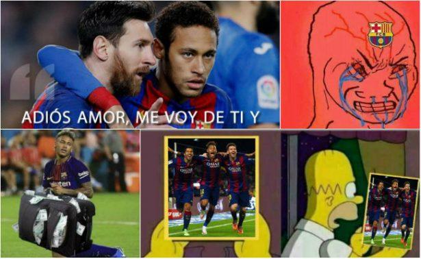 Neymar recibe oleada de memes tras la salida del Barcelona