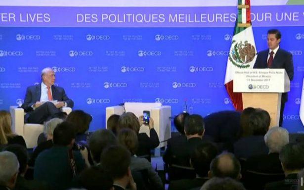 Peña Nieto destaca en OCDE reformas estructurales de México