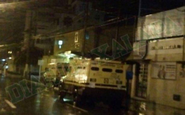 Asaltan camioneta de Cometra, se roban más de 2 mdp