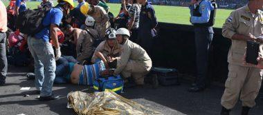 Avalancha en estadio de fútbol de Tegucigalpa deja 4 muertos