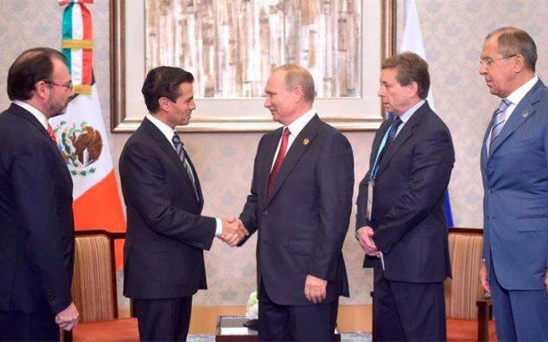 """Peña Nieto y Putin coinciden en incrementar inversiones; """"tenemos que optimizar el trabajo"""""""