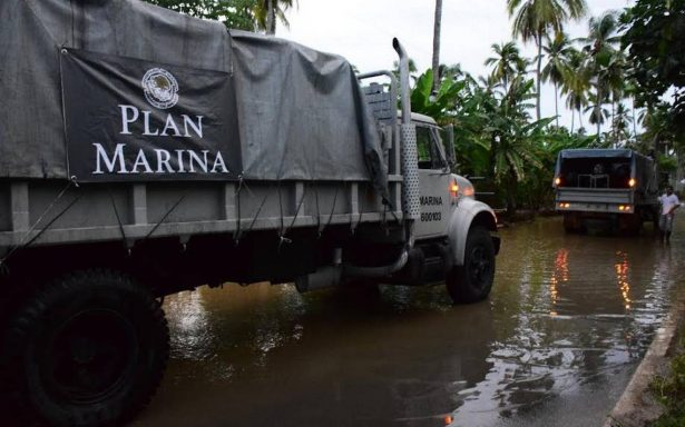 Activan Plan Marina en apoyo a comunidades de Jalisco y Colima afectadas por Lidia